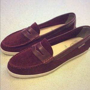 NWOT Cole Haan suede loafers